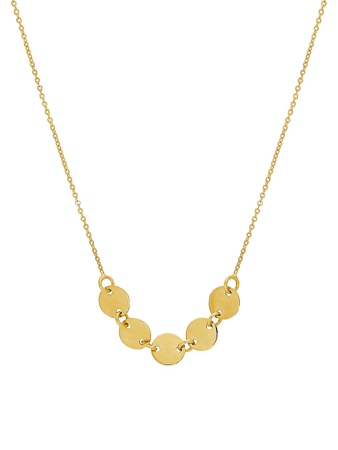 Disk 14K Yellow Gold Necklace
