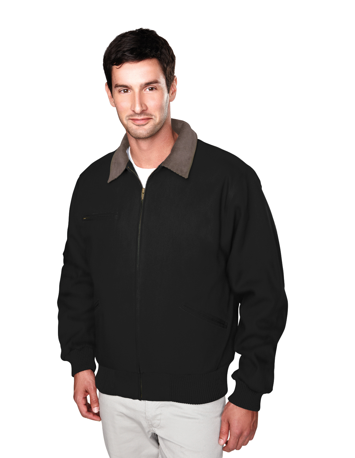 Tm Tm Cotton Canvas Work Jacket With Removable Wool