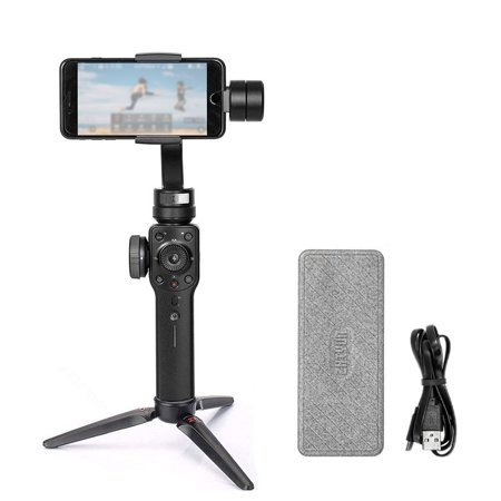 Smooth 4 3-Axis Handheld Brushless Gimbal Portable Stabilizer Integrated Control Panel Camera Mount for Smartphones Action Camera Mobile Filmmakers
