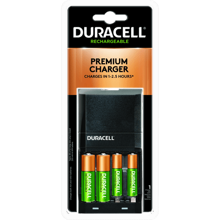 Duracell ION SPEED 4000 Rechargeable Battery Charger Includes 2 AA and 2 AAA NiMH Batteries