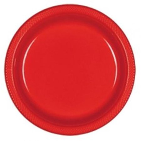 CPC B10664R 10 in. Heavy Duty Disposable Plastic Party Plates, Apple Red - Case of 200 - 10 Case of 20 (Heavy Duty Plastic Plates)