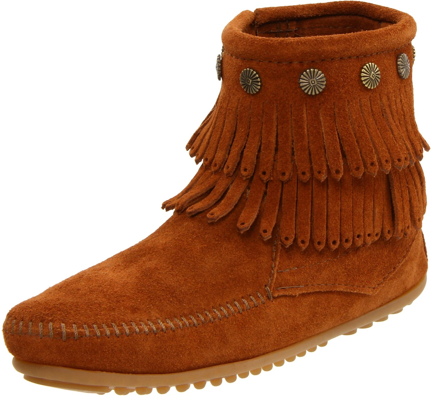 Minnetonka Women's Double-Fringe Side-Zip Boot by MINNETONKA
