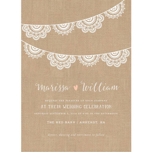 Lace Garland Standard Wedding Invitation