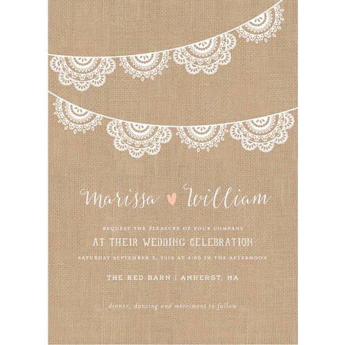 Lace Garland Standard Wedding Invitation