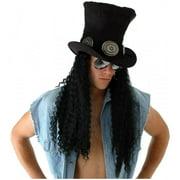 SLASH GUITARIST HAT dreads dred locks rock star hair wig mens halloween costume