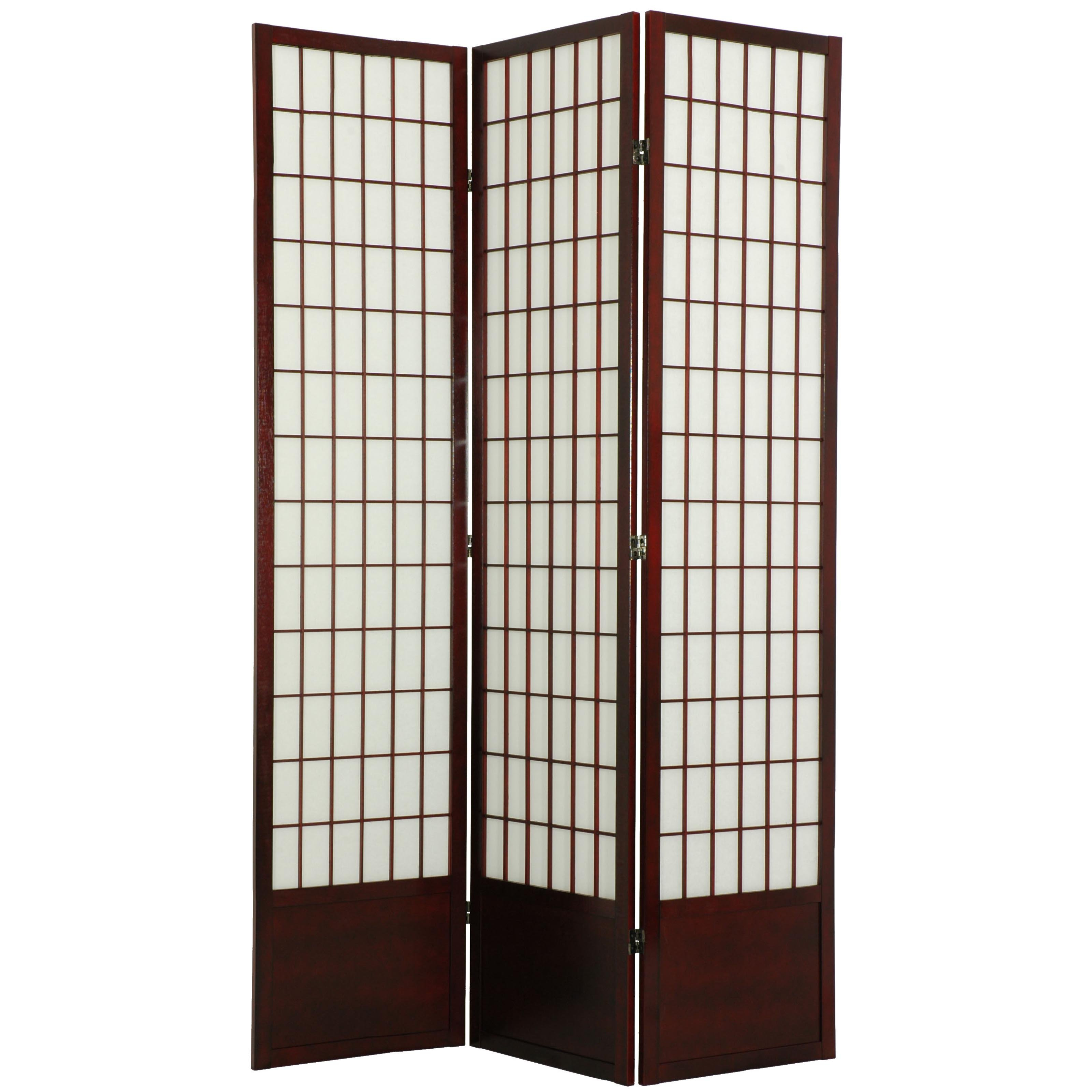 Oriental Furniture Window Pane Room Divider - 84 inch