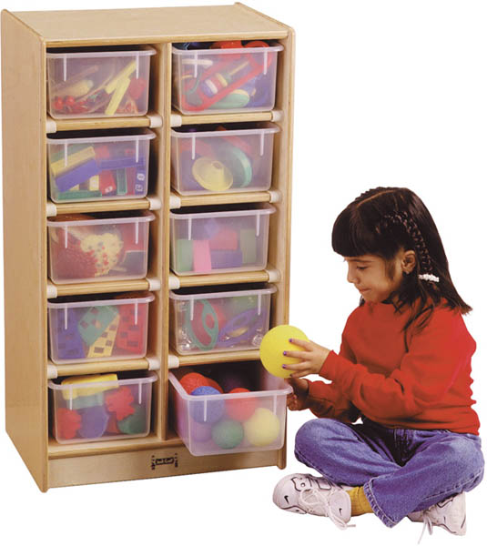 10 Tray Mobile Storage With Colored Trays-Option:With Clear Trays