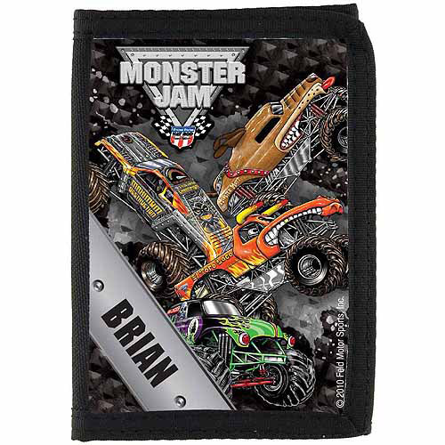 Personalized Monster Jam Freestyle Wallet