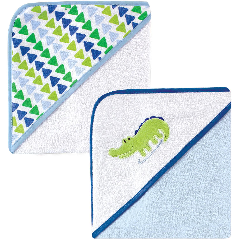 Luvable Friends Applique/Print Hooded Towel, 2pk, Choose Your Color