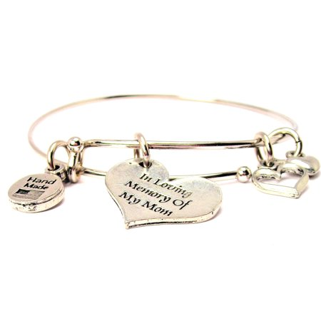 In Loving Memory Of My Mom Expandable Bangle Bracelet, Fits 7.5