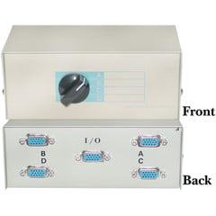 ABCD 4 Way Switch Box, HD15 (VGA) Female