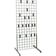 DEI 500910Grid Panel Display with Legs & Hooks, 24 x 60 in.