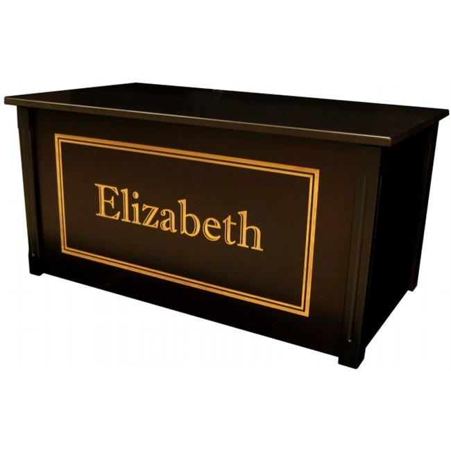 Wood Creations WTE- Shadow Espresso Toybox with Shadow Bold font
