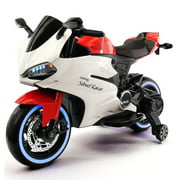 2017 Ducati Style Ride On Toy Motorcycle Car for Kids 12V Battery Powered Red by Wheels N Kids