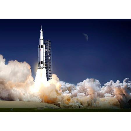 Laminated Poster Orion Rocket Launch Spacex Usa American Poster Print 24 x -