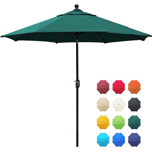 Eliteshade Sunbrella 9ft Market Umbrella Patio Outdoor Table Umbrella With Ventilation And 5 Years Non Fading Guarantee Sunbrella Forest Green Walmart Com Walmart Com