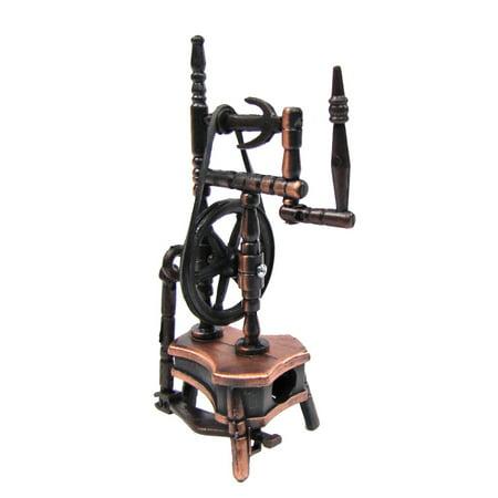 (1:12 Scale Miniature Dollhouse Replica Spinning Wheel Die Cast Pencil Sharpener)