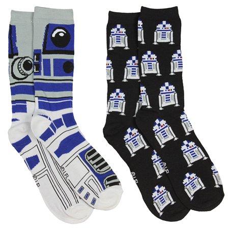 Star Wars R2 D2 Mens 2 Pack Casual Crew Socks