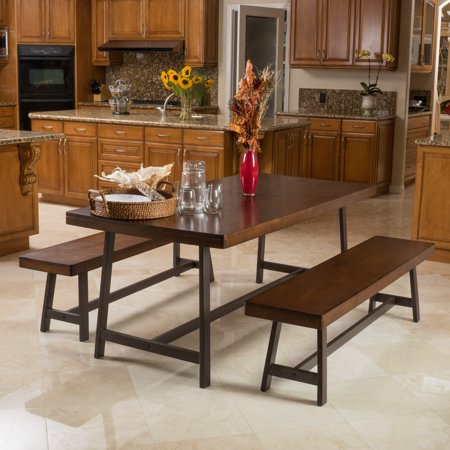 Selena Acacia Dark Brown Foldable 3pc Dining Set ()