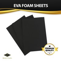 Black EVA Foam Sheet, 9 inch x 12 inch, 6mm- Thick! Great for Crafts! (20 pack)