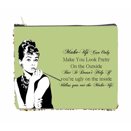 Audrey Hepburn Makeup Quote in Mint - 2 Sided 6.5