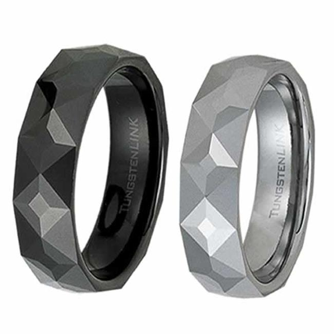 AAB Style RTS-30RG Gorgeous Geometric Tungsten Ring - Gold  Tungsten and Black PVD