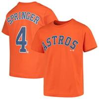 George Springer Houston Astros Majestic Youth Player Name & Number T-Shirt - Orange