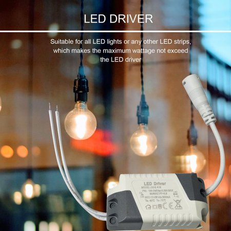 Dimmable LED Light Lamp Driver Transformer Power Supply 6/9/12/15/18/21W - image 2 of 7