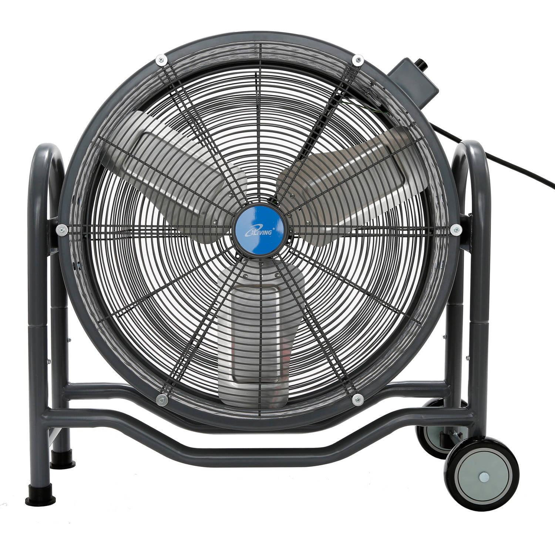 "iLIVING 24"" BLDC Air Circulator High Velocity Floor Fan, 115V"