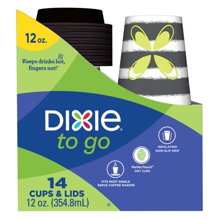 Dixie To-Go Hot Cups w/lids 12 oz 14ct