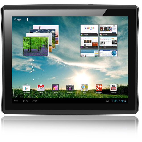 """LePan 9.7"""" Capacitive Touchscreen Tablet Featuring Google Mobile Services and Android 4.0 with 4GB Memory & 4GB card, Black"""