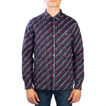 87f22134b347 Moncler - Moncler Men s Polyester Checkered Stripe Down Jacket Navy ...