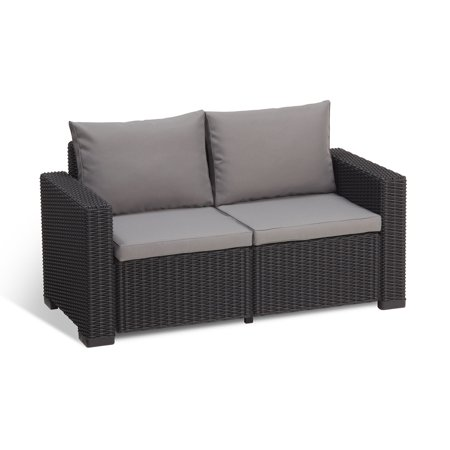 Keter California 2 Seater Outdoor Seating Patio Sofa
