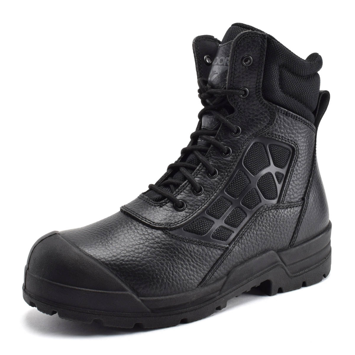 Condor Men's 8 Inch Steel Toe Work Boot Black High-Top Leather - 7M