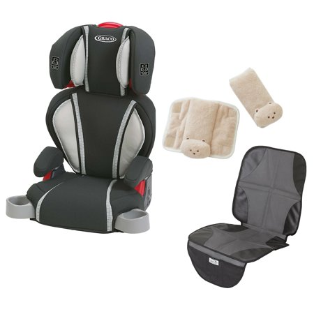 graco highback turbobooster car seat with car seat mat cushioned strap covers glacier. Black Bedroom Furniture Sets. Home Design Ideas