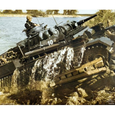 - LAMINATED POSTER . A German Panzer III Ausf.J tank. The tank belongs to 18th Panzer Division and the photograph was p Poster Print 24 x 36