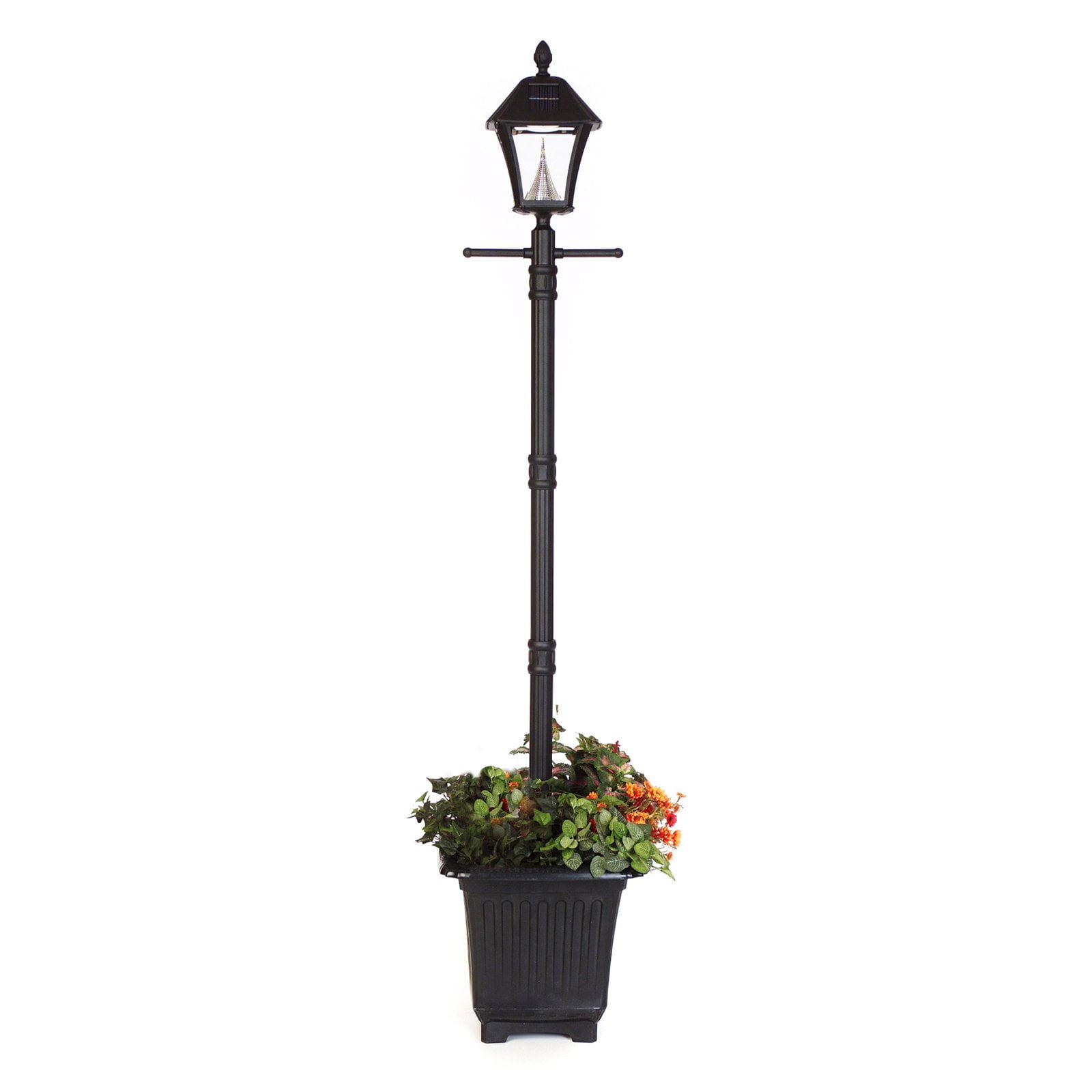Gama sonic baytown solar lamp post with planter walmart aloadofball Image collections
