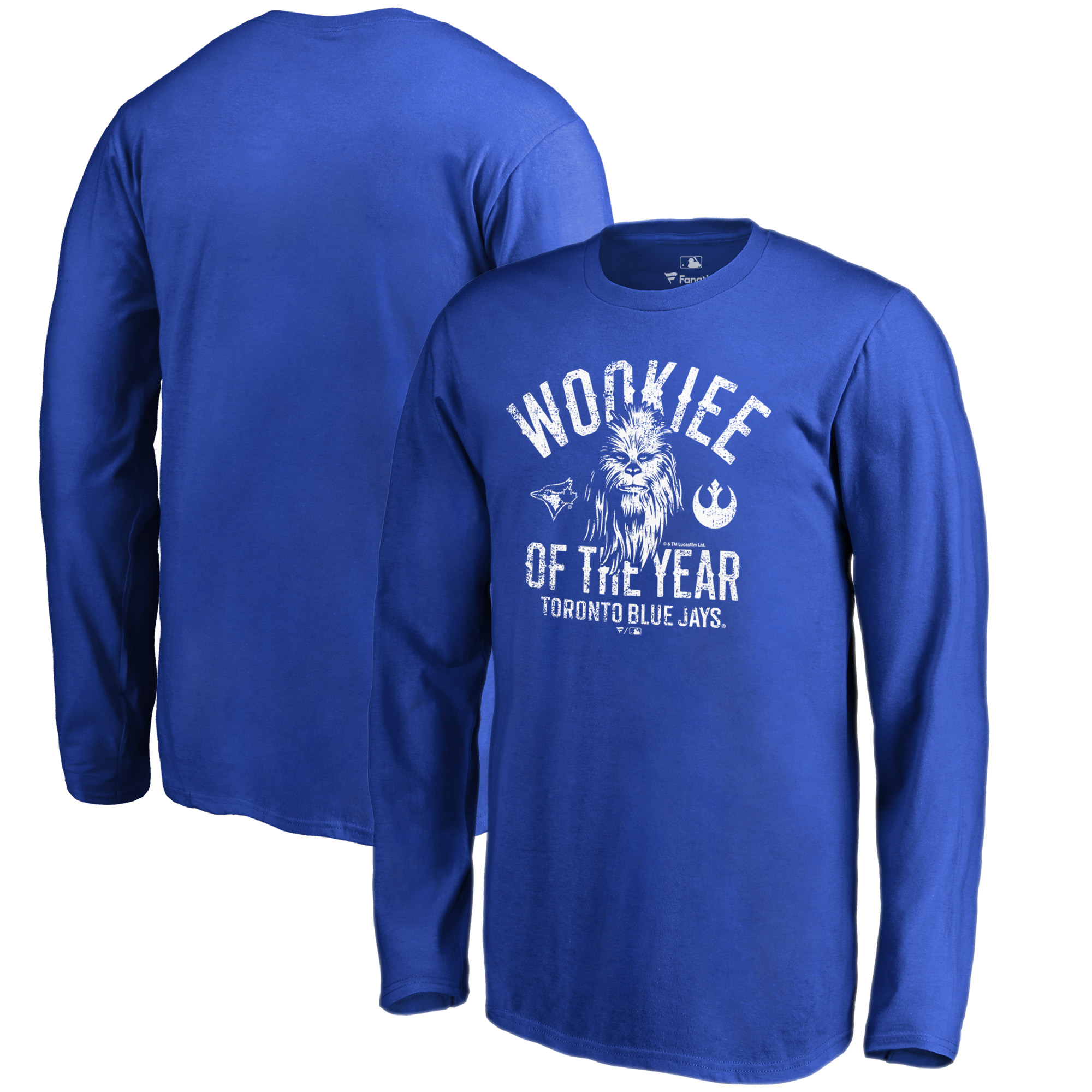 Toronto Blue Jays Fanatics Branded Youth Star Wars Wookiee Of The Year Long Sleeve T-Shirt - Royal