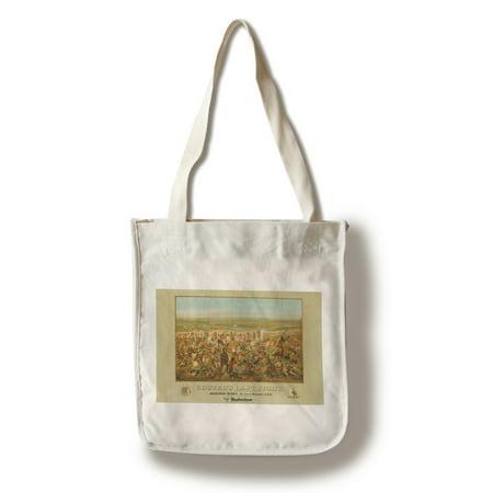 Custers Last Fight   Anheuser Busch Budweiser    Artist  Becker C  1936    Vintage Advertisement  100  Cotton Tote Bag   Reusable