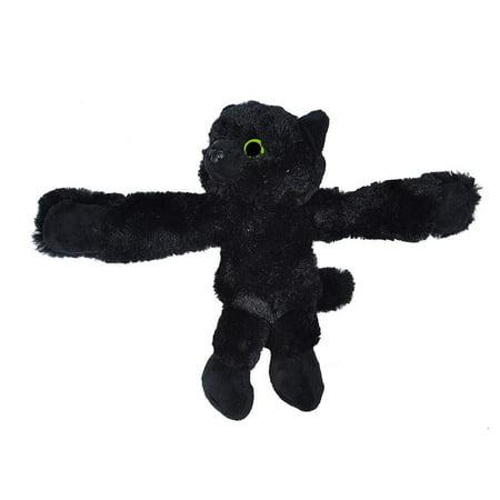 Wild Republic Huggers Black Cat, Panda Plush Toy, Slap Bracelet, Stuffed Animal, Kids Toys, 8 Inches](Black Sheep Stuffed Animal)