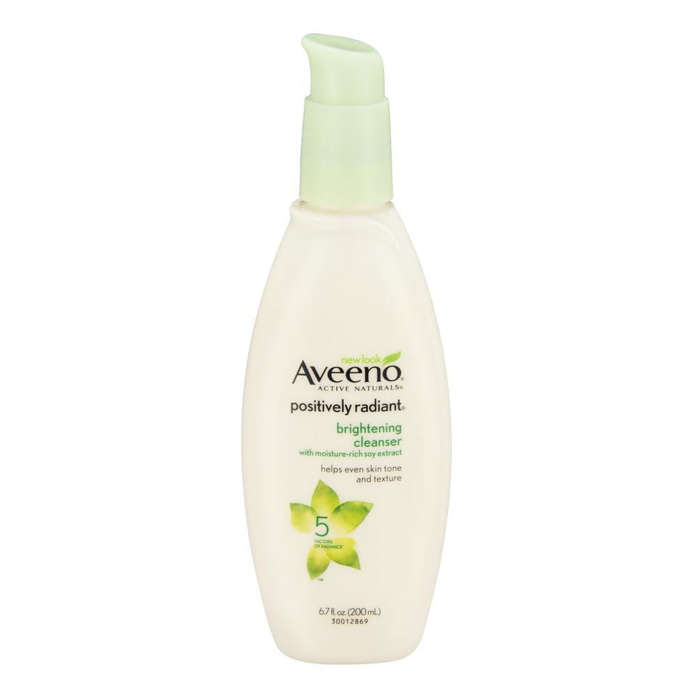 Wash Aveeno facial