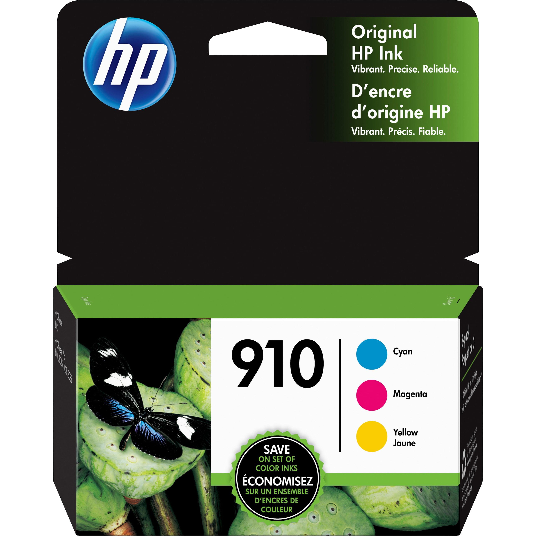 HP 910 Ink Cartridges - Cyan, Magenta, Yellow, 3 ...