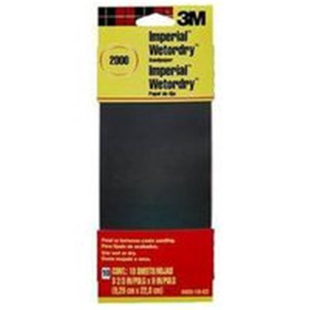 Imperial Wet/Dry Sandpaper, 9 in x 3-2/3 in, 2000 Grit, Fine Grade, Silicone Carbide 2000 Alto Saxophone Book