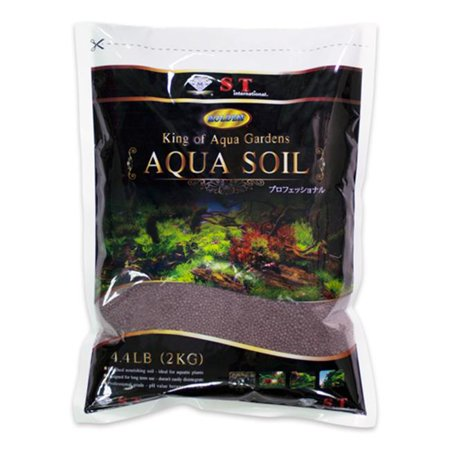 S.T. International Aqua Soil for Aquarium Plants, 4. 4 Lbs. - Black