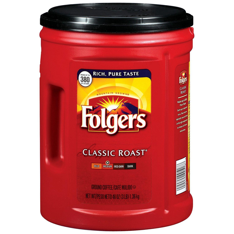 Folgers - Folgers Classic Roast Ground Coffee (48 oz.) - ...