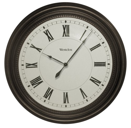 "Westclox 32223 16"" Round Bronze Oil Rub Case Finish Clock"