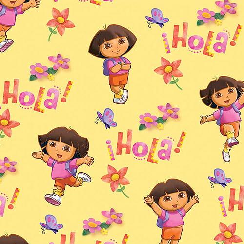 "Creative Cuts Fleece 60"" wide, 1.5 yard cut fabric, Dora the Explorer"