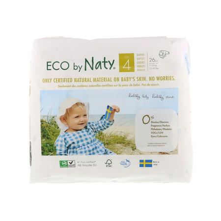 Naty  Diapers for Sensitive Skin  Size 4  15-40 lbs  7-18 kg   26
