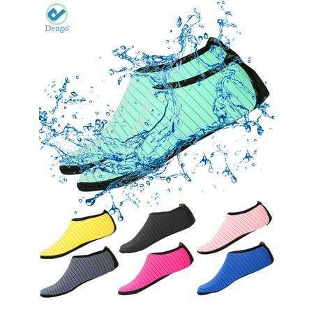 Deago Water Sports Shoes Beach Barefoot Socks Quick-Dry Swim Aqua Surf Yoga Exercise Sock Slip-on For Men Women Kids