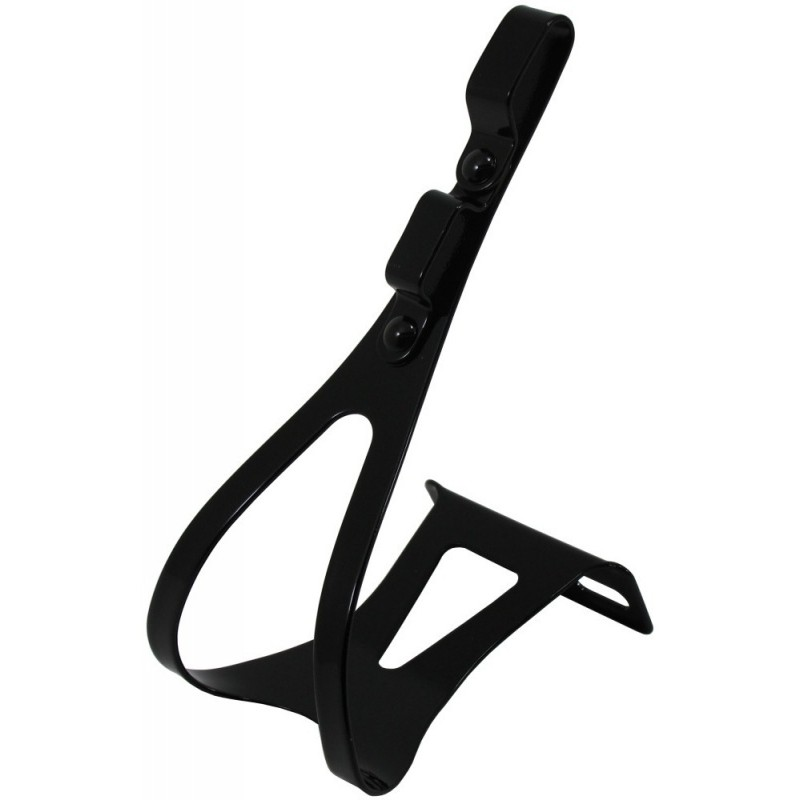 Wellgo Ck005B Steel Road Toeclips Double Strap Medium Black